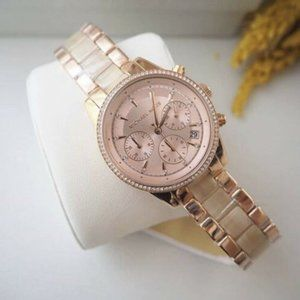 Womens Michael Kors Rose Gold Champagne Watch